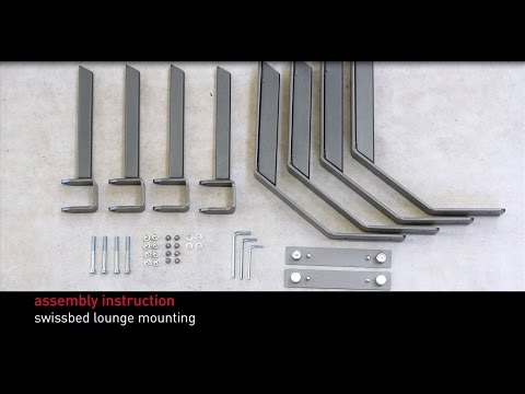 Swissflex assembly instructions - swissbed lounge mounting
