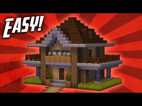 Minecraft How To Build Survival Starter House Tutorial