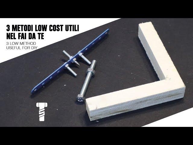 3 Metodi Low Cost Utili Nel Fai Da Te 3 Low Cost Method