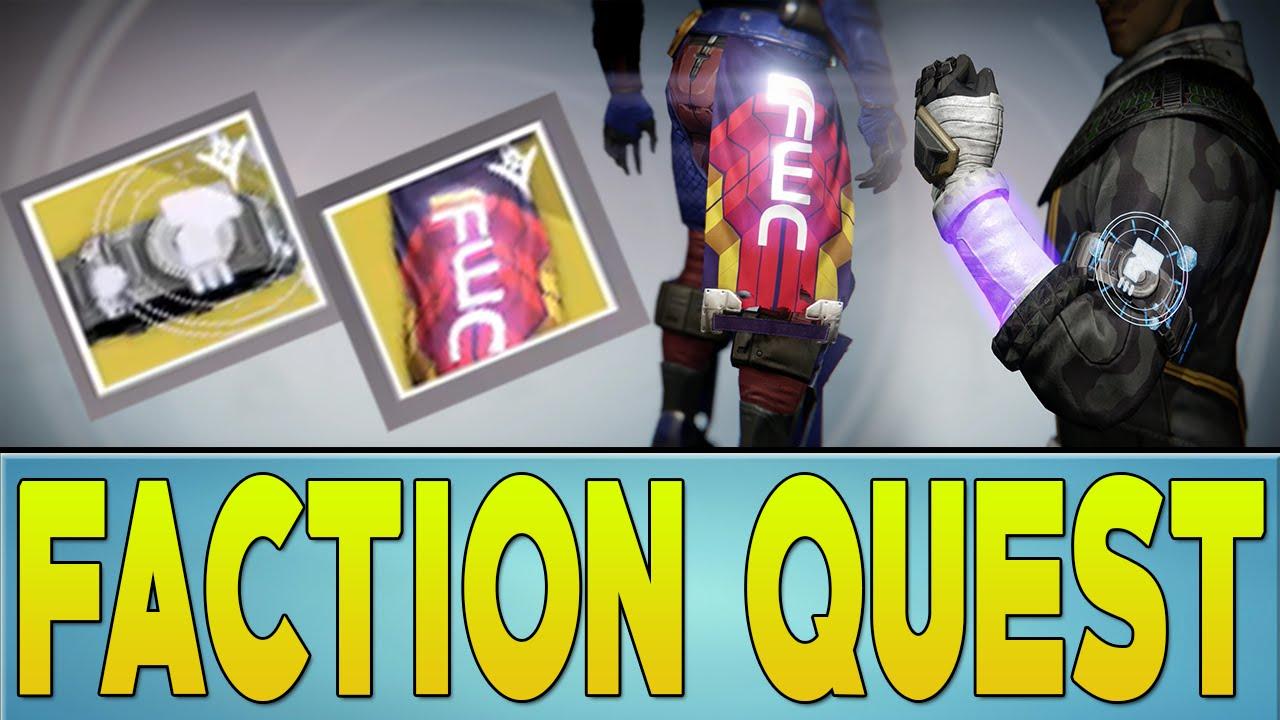 Destiny faction quest exotic rewards youtube