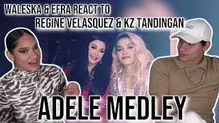 Download Waleska & Efra react to Regine Velasquez & Kz Tandingan   ADELE MEDLEY live   REACTION
