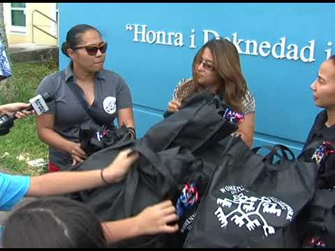 Female Guam Police staffers give back to help disadvantaged island women