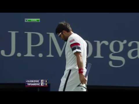 2011 - US Open - QF - Novak Djokovic b Janko Tipsarevic 7/6(2) - (3)6/7 - 6/0 - 3/0 rit