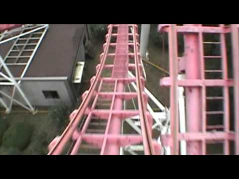 Rolling X Train Roller Coaster Vekoma Front Seat POV Everland Theme Park S. Korea