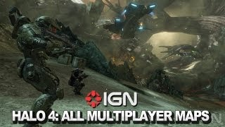 Halo 4 Complete Multiplayer Map Tour with 343i