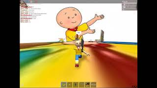 RUNNING FROM IMPOSTERS IN CAILLOU IS SENPAI | roblox