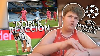Doble Reaccion | Manchester City 2 Real Madrid 1 y Juventus 2 Lyon 1 | Reacciones De Un Hincha