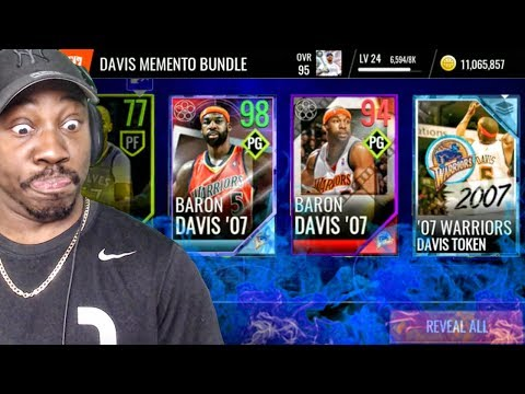 PLAYOFFS MOMENT MASTER BARON DAVIS IN MOMENTO PACK OPENING! NBA Live Mobile 18 Gameplay Ep. 47