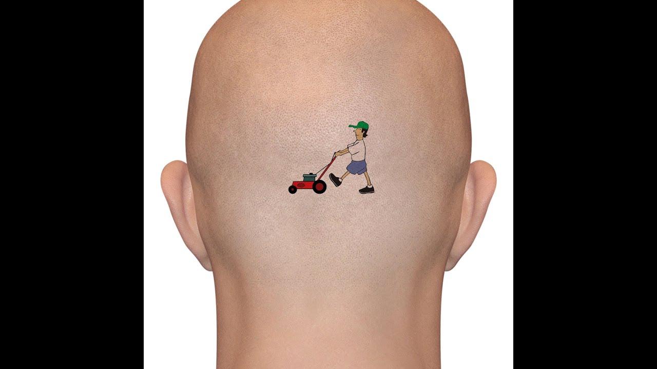 красивые мужские татуировки на голове и шее