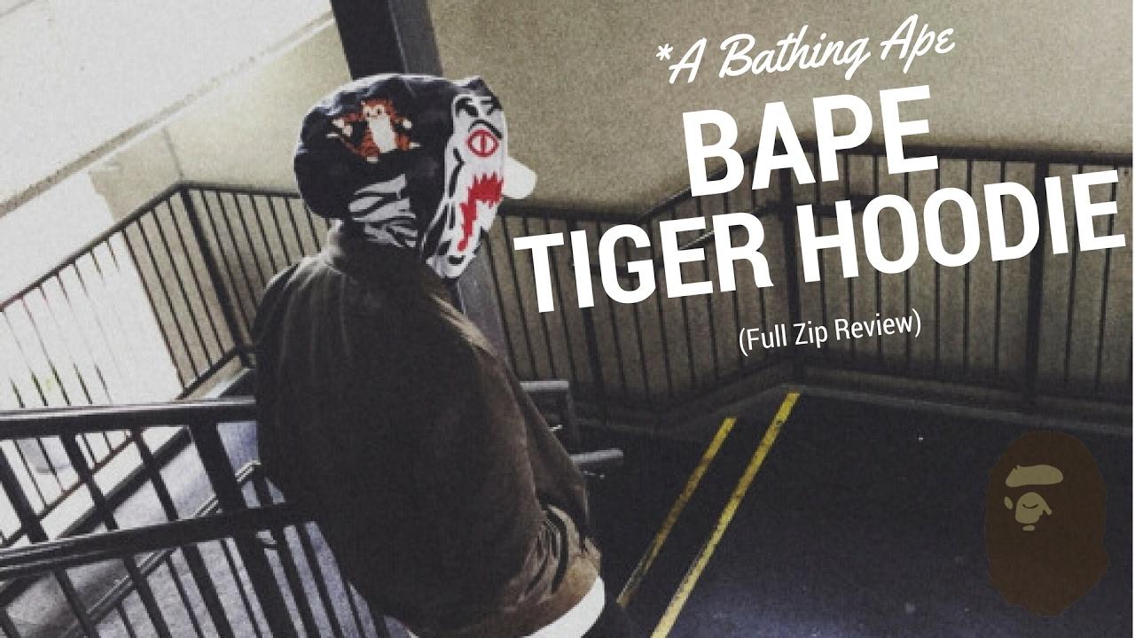 65522c6bd7bb BAPE Tiger hoodie review Full Zip