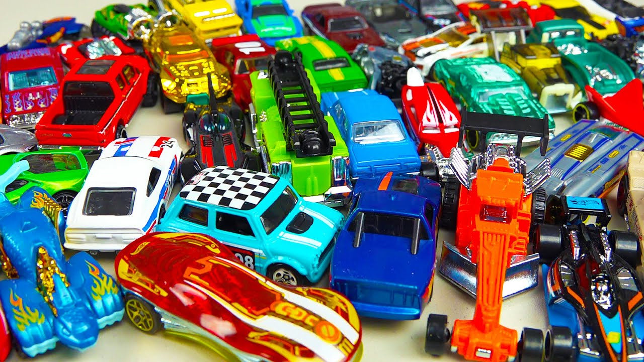 hot wheels 50 pack toy cars trucks surprise box youtube