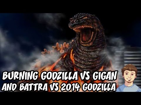 Godzilla PS4 Online Multiplayer Gameplay - Burning Godzilla VS Gigan & Battra VS 2014 Godzilla