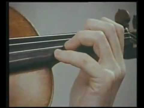 Yehudi Menuhin Violin Tutorial - 5. Left Hand Playing
