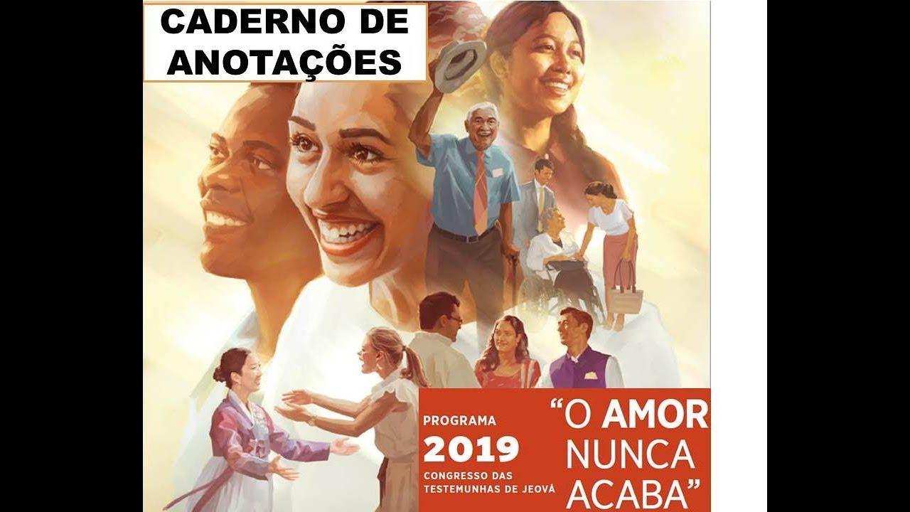 """Nunca Desista Do Seu Amor: Caderno De Anotações CONGRESSO 2019 """"O AMOR NUNCA ACABA"""