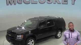 A98959ET Used 2012 Chevrolet Suburban 1500 LT 4WD SUV Black Test Drive, Review, For Sale -