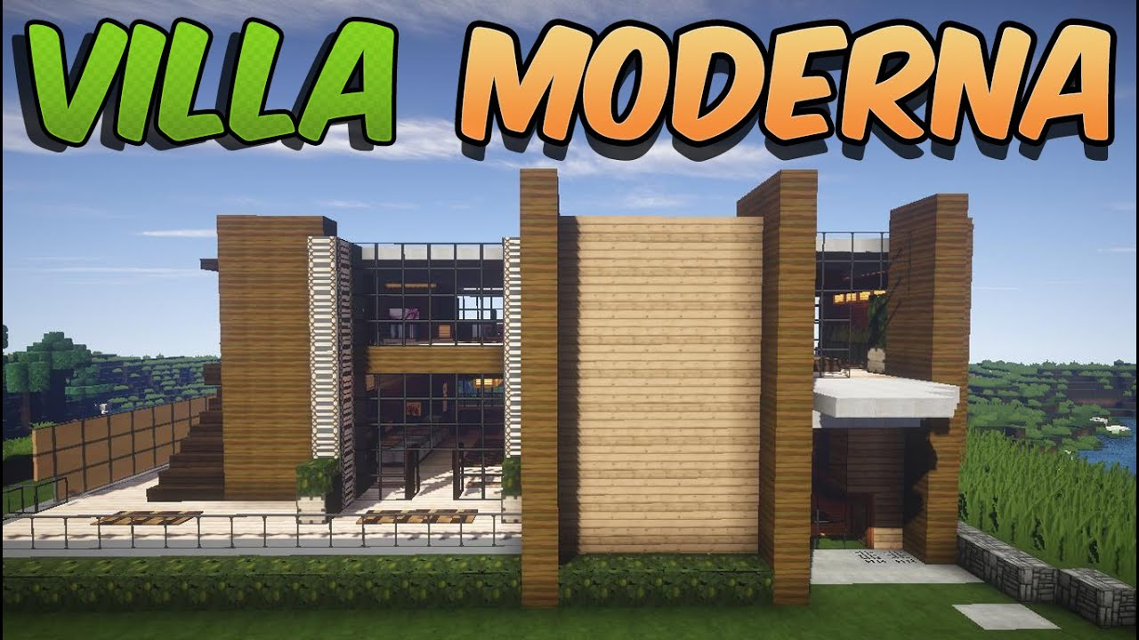 come costruire una villa moderna minecraft ita youtube