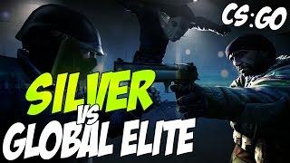 CS:GO - Игра на деньги // GLOBAL ELITE vs. SILVER
