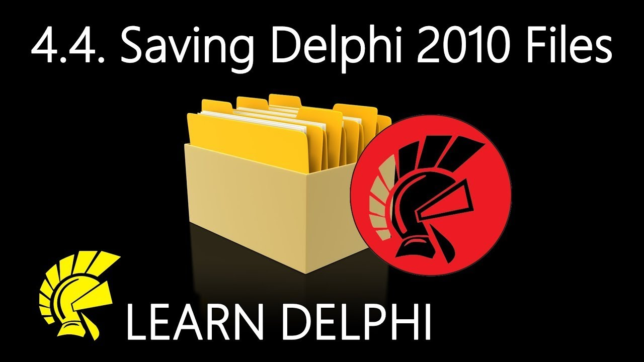 Delphi Programming Tutorial - Unit 4 4: Saving Files for