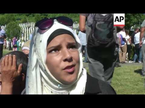 Bosnian muslim victims buried on Srebrenica anniversary