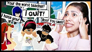 I WAS BULLIED BY MY STUDENTS! - Roblox Roleplay - Robloxian Highschool