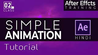 Learn Motion Graphics with After Effects in Hindi- Basic Animation