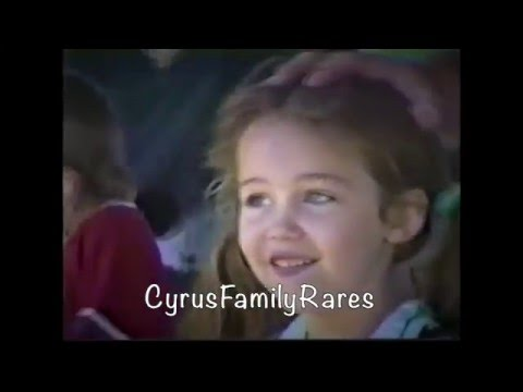 Miley Cyrus singing at 6 years old
