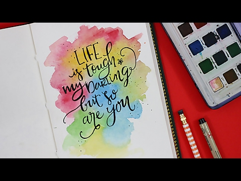 Modern Calligraphy + Watercolors | Paint with me