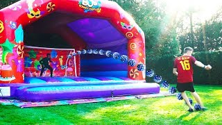 BOUNCY CASTLE PENALTY CHALLENGE!