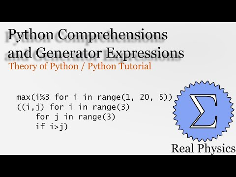 Python Comprehensions and Generator Expressions (Theory of