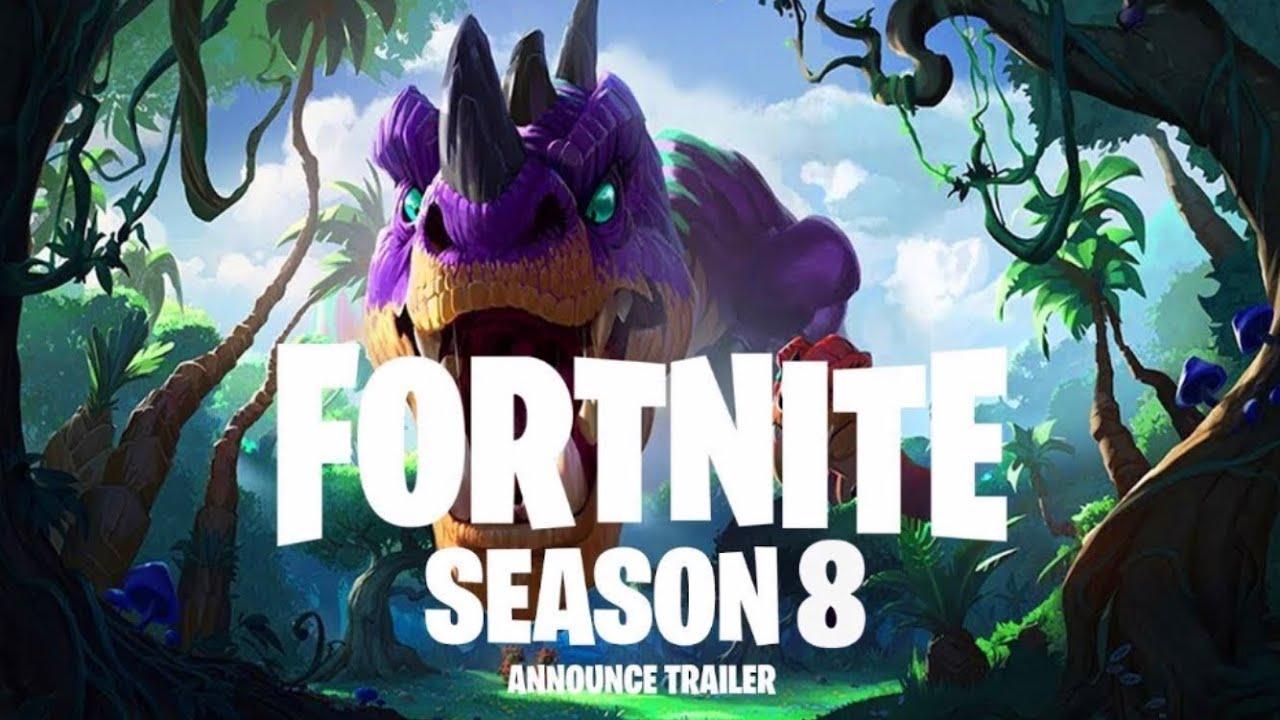 Fortnite season 8 3 dinosaurier
