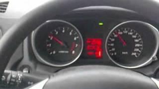 Mitsubishi ASX с МТ, работа круиз-контроля
