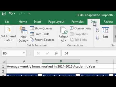 Basic Excel Business Analytics #37: Excel 2016 Data Tab, Get & Transform: Unpivot feature