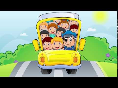 Скачать футаж'Автобус и дети'