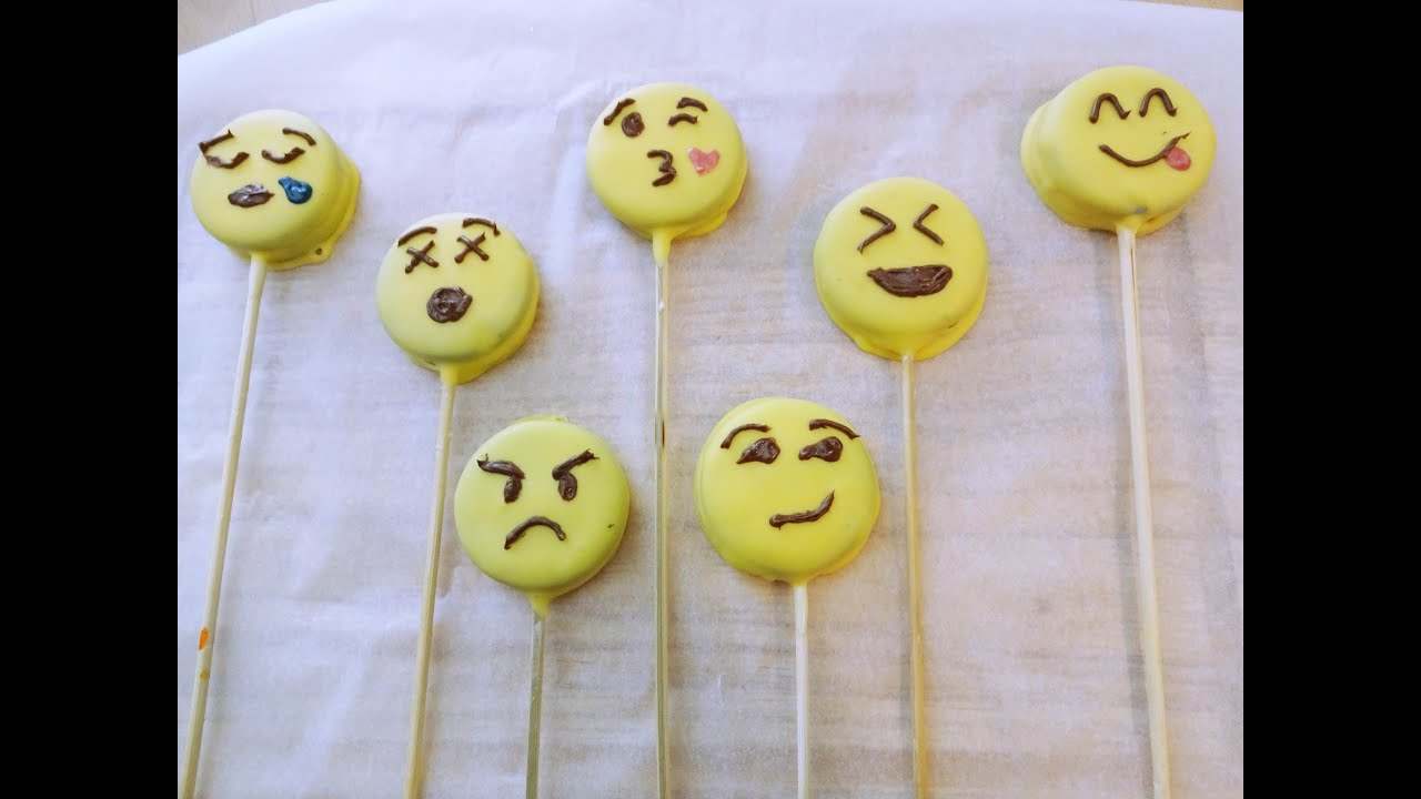 Emoji Oreo Cookiepops Ohne Backen Cakepopwoche Youtube