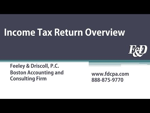 Income Tax Return Overview Webcast for Businesses and Individuals | Feeley & Driscoll, P.C.