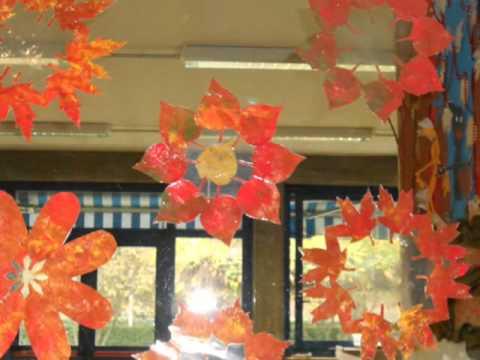 Castagnata e lavoretti autunno 2011 youtube - Decorazioni autunnali per finestre ...
