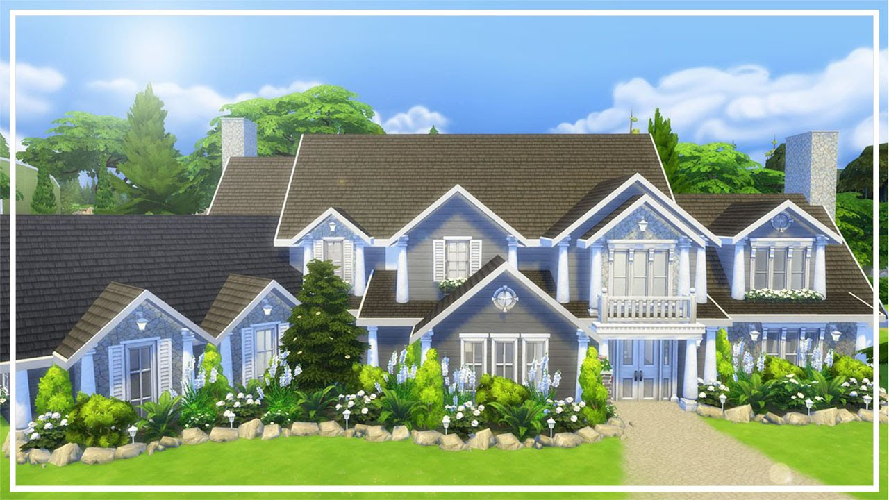 Hillside Manor: HILLSIDE MANOR // The Sims 4: Speed Build #2