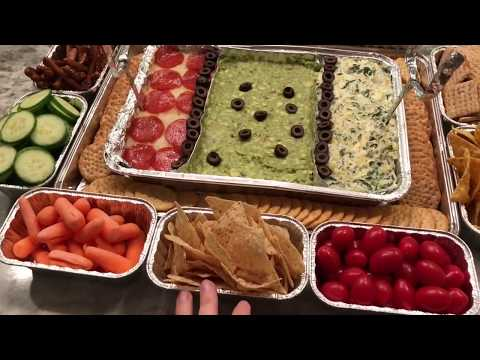 DIY Super Bowl Stadium Snack Platter