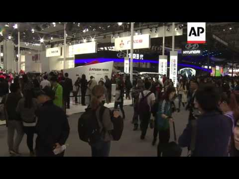World automakers showcase their vehicles at the Beijing Auto Show