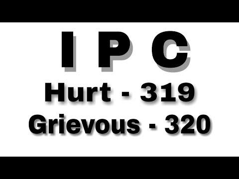 IPC - Hurt, grievous hurt section 319&320    by Law classes