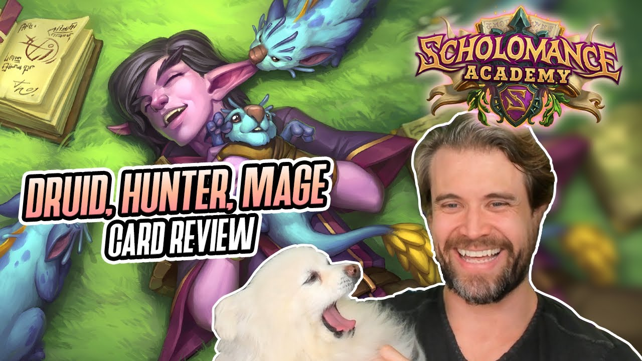 (Hearthstone) Scholomance Academy - Druid, Hunter, and Mage Card Review