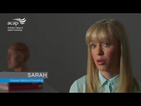 Sarah's ACAP study journey – Graduate Diploma of Counselling