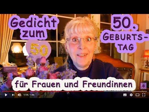 Fg229 Gedicht Zum 50 Geburtstag Für Frauen Freundinnen