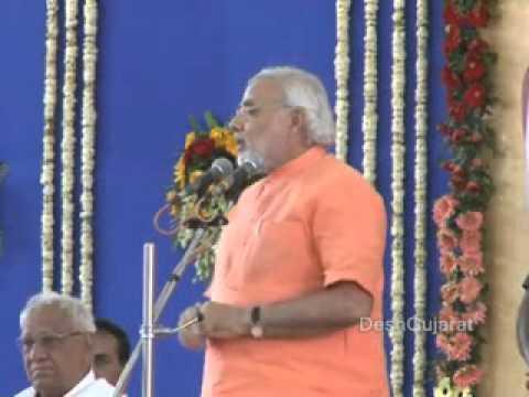 Gujarat CM Narendra Modi speaking in award function for women sarpanchs