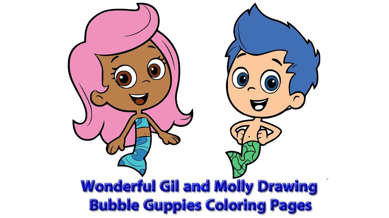 Molly Bubble Guppies Coloring Pages | Cartoon Coloring pages of ... | 720x1280