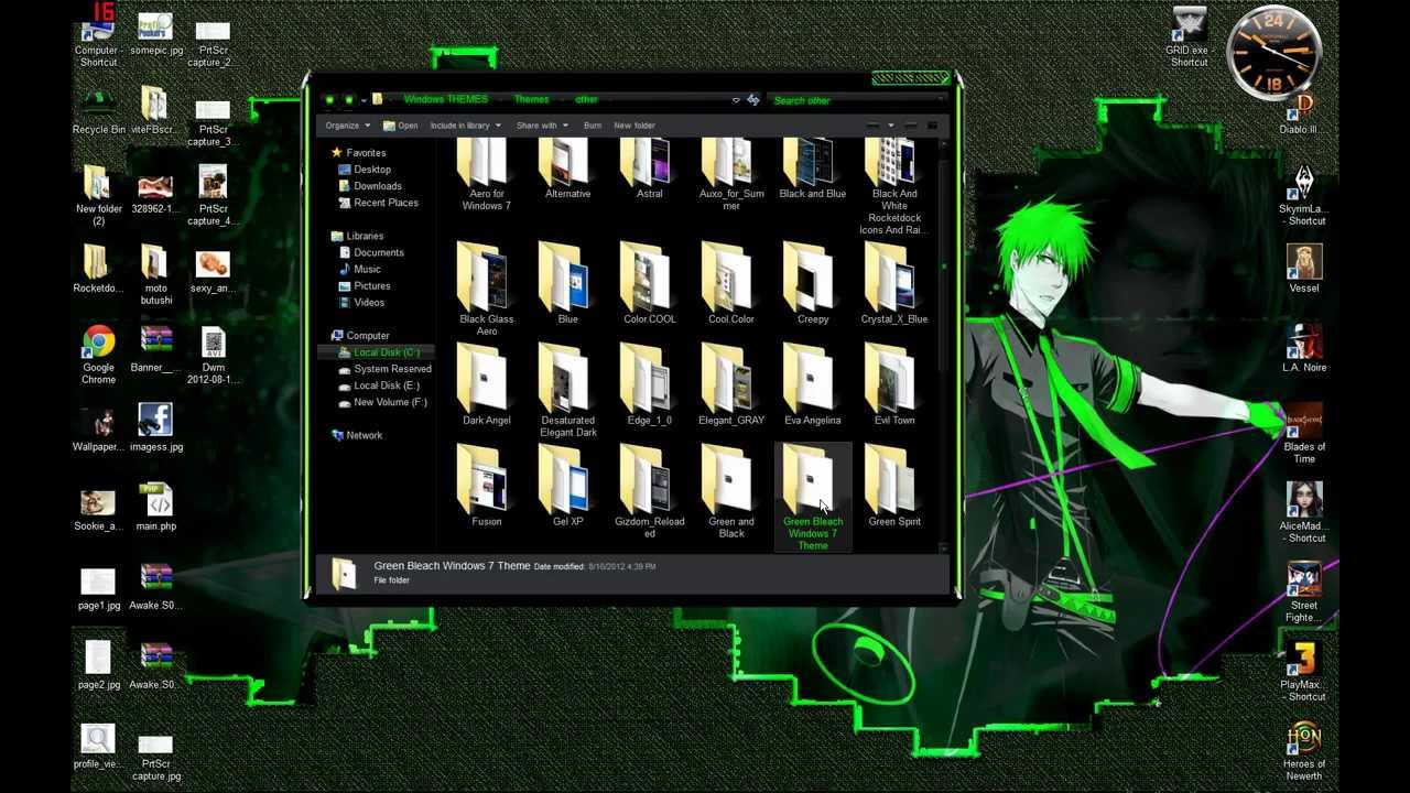 Bleach windows 7 theme with 10 high quality backgrounds.