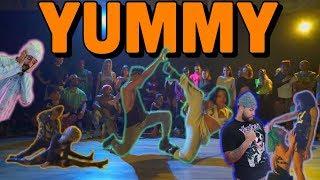 Yummy | justin bieber aliya janell & jusbmore choreography queens n lettos reaction!!
