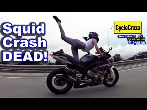 Squid Biker Chick Killed Speeding On Motorcycle Monika9422 Crash