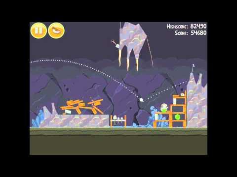 Angry Birds 16-7 Mine & Dine 3 Star Walkthrough
