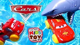 Lightning car McQueen and Red car of fire. UNDERWATER WORLD. Cars for children. TaTaToys